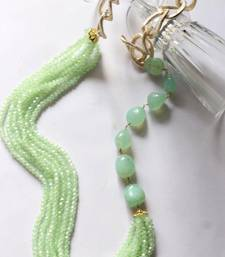 Buy Mint tumble and crystal multistrand necklace Necklace online