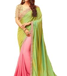 Buy Multicolor embroidered silk saree with blouse bollywood-saree online