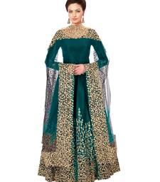 Buy Green embroidered taffeta salwar with dupatta anarkali-salwar-kameez online