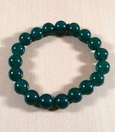 Buy Green Jade Bead Bracelet Bead Size-10mm Gem Bracelet Bracelet Reiki Bracelet gemstone-bracelet online