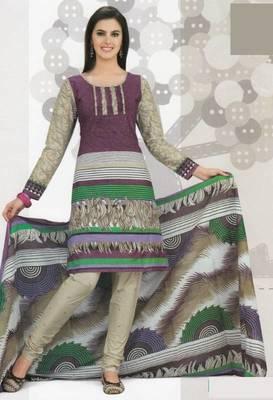 Cotton Dress Material Elegant Designer Unstitched Suit D.No 2107