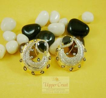 Huge Rare Black Onyx Studs Earrings