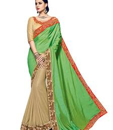 Buy Green embroidered silk saree with blouse silk-saree online