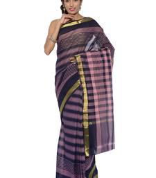 Buy Pink woven cotton saree  traditional-saree online
