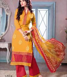 Buy Multicolor embroidered cotton salwar cotton-salwar-kameez online