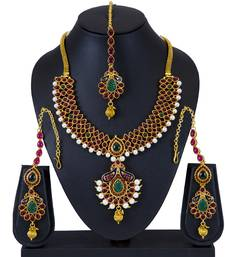 Buy Sukkhi Delightly Gold Plated necklace set for women necklace-set online