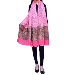 Buy GiftPiper Kashmiri Jamawar Shawl/Stole-Pink shawl online