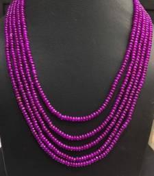 Buy purple onyx stones five line multistrand necklace Necklace online