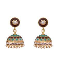 Buy Brown diamond earrings Earring online
