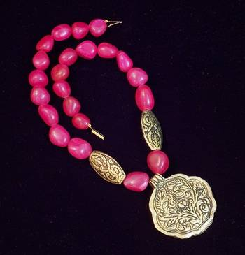 Ethnic Pink Necklace