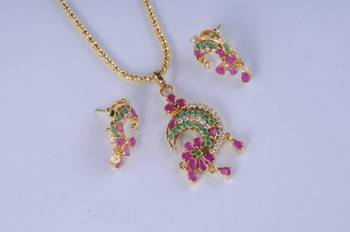South India Inspired Pendant Set