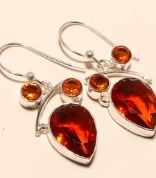 """Buy Golden topaz gemstone 925 silver jewelry earring 1.64"""" gemstone-earring online"""