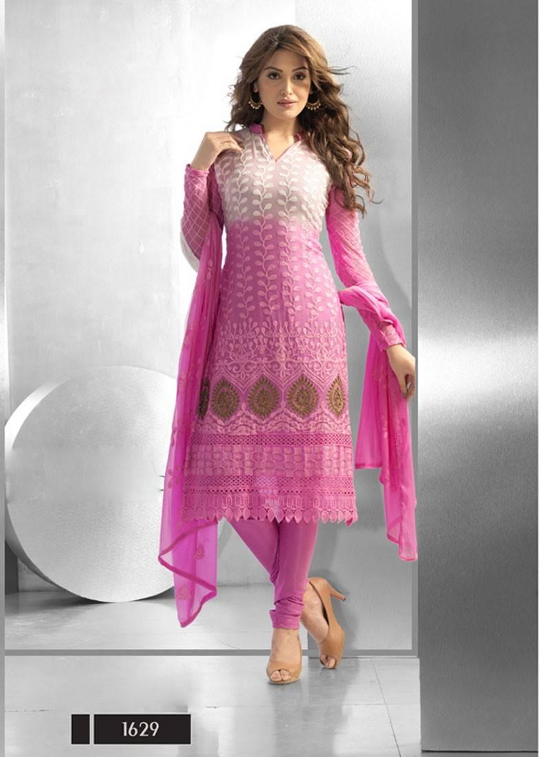 Buy New Simple Designer Pink Dress Material Online