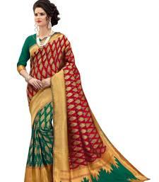 Buy Multicolor woven banarasi saree with blouse wedding-saree online