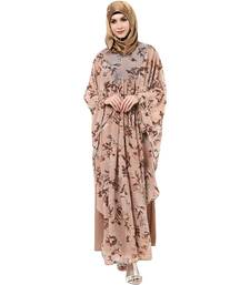 Buy Multicolor multicolored printed printed ggt. and crepe arab islamic abaya abaya online