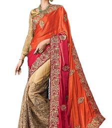 Buy Multicolor embroidered nylon saree with blouse bridal-saree online