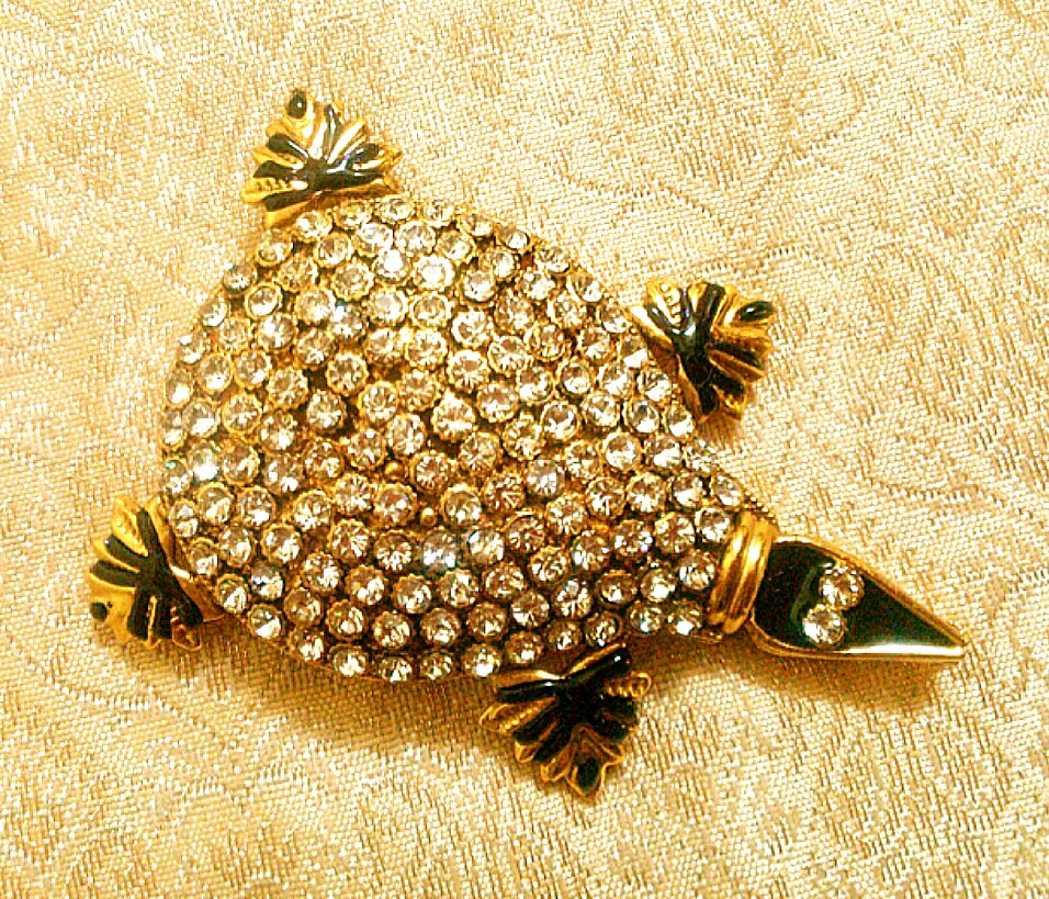 Gold Plated Cz Studded Copper Tortoise For Pooja Feng Shui