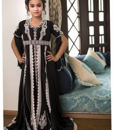 Buy Black Moroccan Style Arabic Kaftan kids-kaftan online