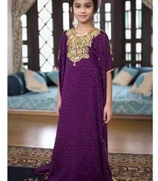 Buy Violet Designer Kids Kaftan kids-kaftan online