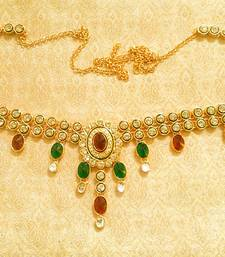 Buy Designer Kundan Waist Belt Kamarband Ethnic Wedding Jewelry waist-belt online