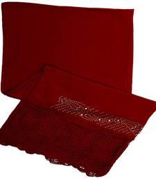 Buy Red cotton Islamic Style Stole Daily Wear Arabian Hijab hijab online