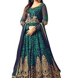 Buy Green diamond work georgette salwar with dupatta wedding-salwar-kameez online