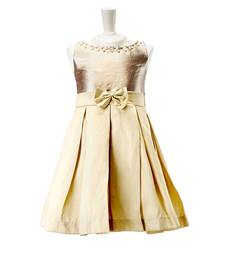 Buy Pleated Dress With Floral Detail kids gown evening-wear-dress online