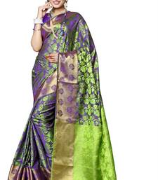Buy Multicolor hand woven silk saree with blouse women-ethnic-wear online