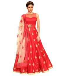 Buy Red embroidered silk salwar wedding-salwar-kameez online