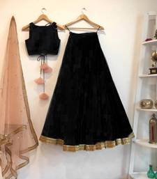 Buy black art_silk embroidered lehenga with dupatta lehenga-choli online