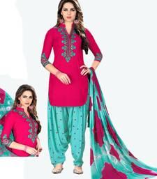 Buy Pink embroidered cotton salwar patiala-salwar online