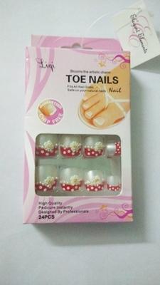 Shimmer 'n sparkle, new fashion black false TOE nails decoration .decals tips