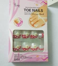 Buy Shimmer 'n sparkle, new fashion black false TOE nails decoration .decals tips nail-art online