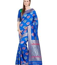 Buy mustard woven silk saree with blouse kanchipuram-silk-saree online