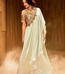 Buy White Embellished Satin lehenga choli readymade-lehenga-cholis online