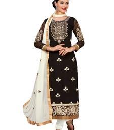 Buy Black embroidered georgette salwar wedding-salwar-kameez online