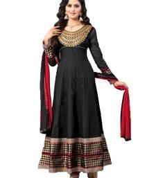 Buy Black embroidered cotton salwar wedding-salwar-kameez online