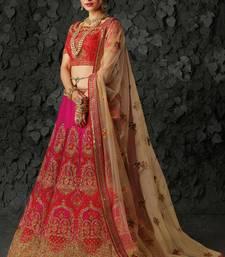 Buy Pink silk heavy embroidery lehenga with dupatta bridal-lehenga online