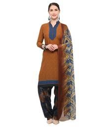 Buy Brown digital print crepe salwar crepe-salwar-suit online
