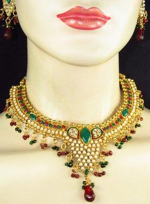 Polki necklace set.