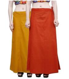 Buy Women's Multi Colour Pure Cotton Inskirt Saree petticoats petticoat online
