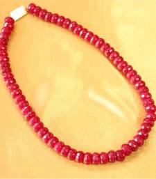 Buy Real Ruby Single Line Necklace Necklace online
