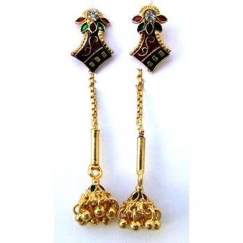 Needle thread earrings/JW-721