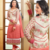 Pink embroidered velvet semi-stitched salwar with dupatta