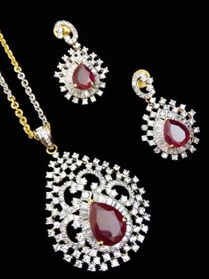 Buy red diamond pendants set online red diamond pendants set aloadofball Choice Image