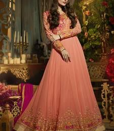 Buy Peach Georgette bollywood salwar malaika-arora-khan online