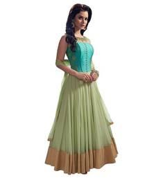 Buy Green embroidered net salwar bollywood-salwar-kameez-online online