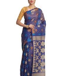 Buy Multicolor hand woven pure bengal handloom saree jamdani-saree online