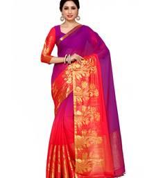Buy Mimosa multi woven chiffon saree with blouse chiffon-saree online