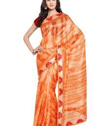Buy Chhabra 555 Orange Printed Art Silk Sarees With Blouse all-seasons-saree online